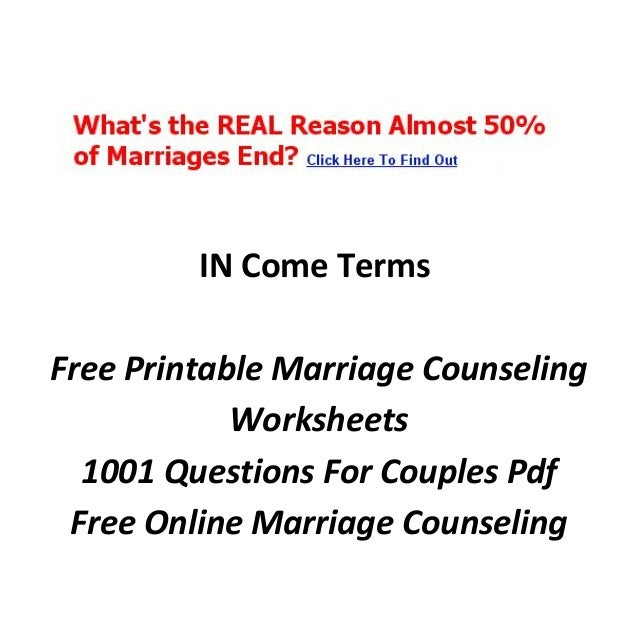 Marriage counseling online quiz – Marriage Therapy Worksheets