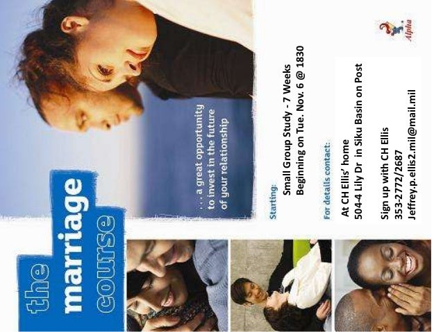 Small Group Study - 7 Weeks     Beginning on Tue. Nov. 6 @ 1830At CH Ellis' home504-4 Lily Dr in Siku Basin on PostSign up...