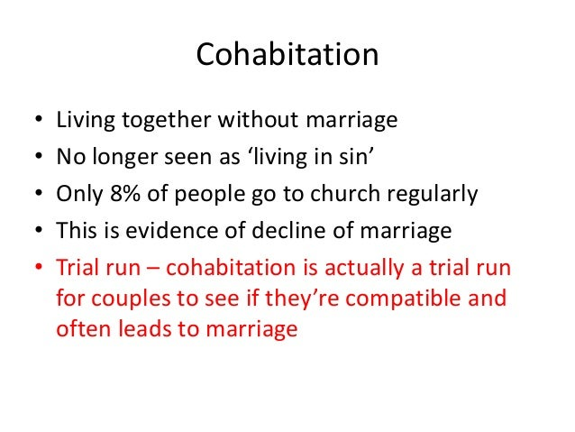 Is cohabitation a sin