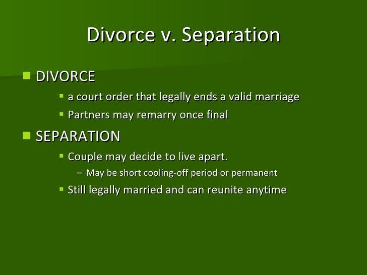 Divorce or annulment