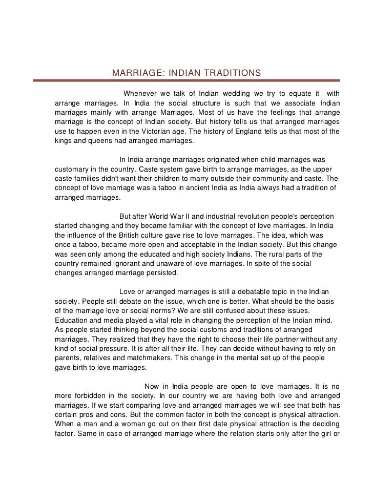 essay of love marriage Writing sample of essay on a given topic love marriage or arranged marriage.