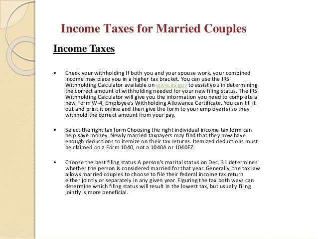 Marrying you financespre marital discussions 22 income taxes ccuart Choice Image