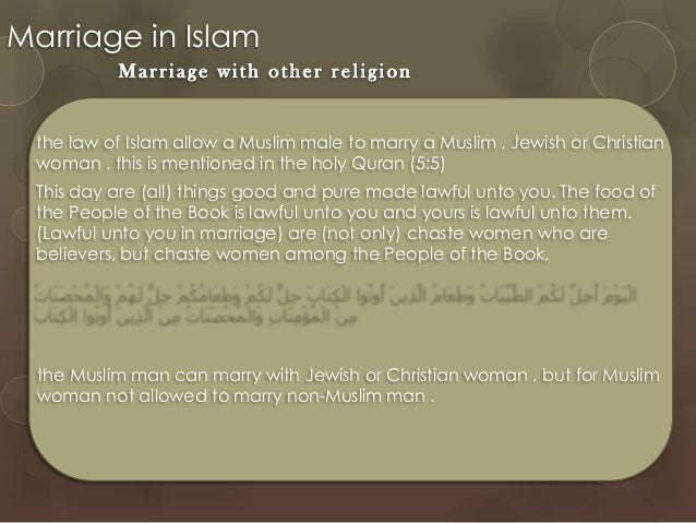 marriage in islam and christianity essay Essay writing guide marriage and divorce in christianity and islam and that is forbidden in islam marriage is very important in islam.