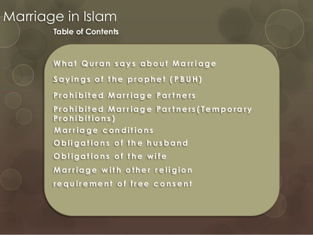What does the quran say about marriage