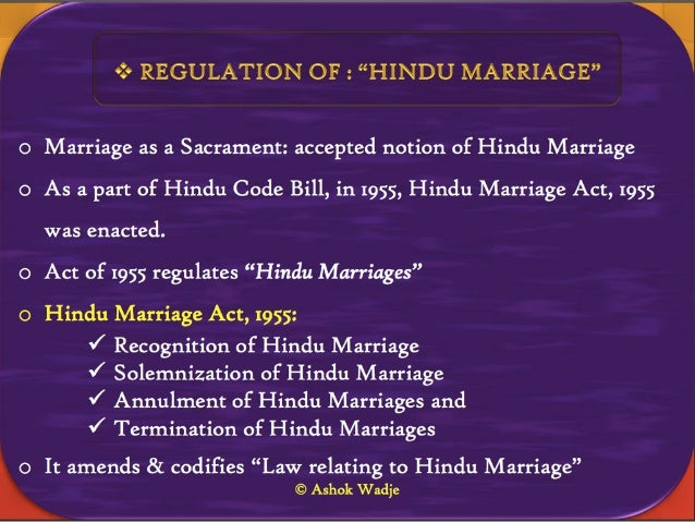 Personal Law on Marriage in India: Conditions ...
