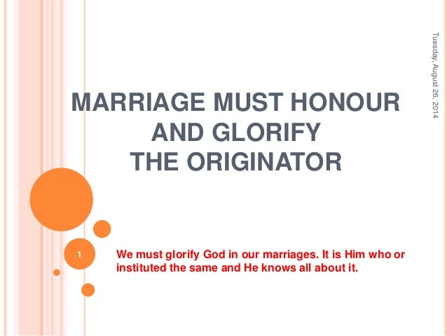 how to glorify god in your marriage