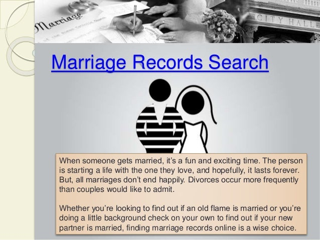 find a person marriage records