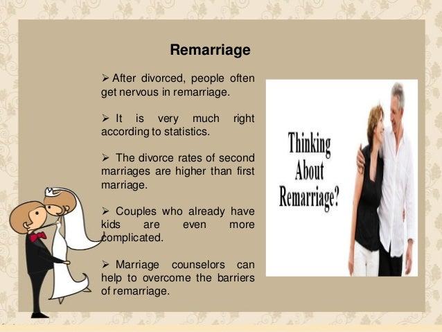 remarriage after divorce statistics