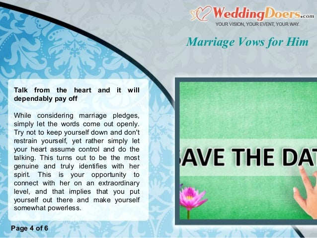 Marriage Vows For Him