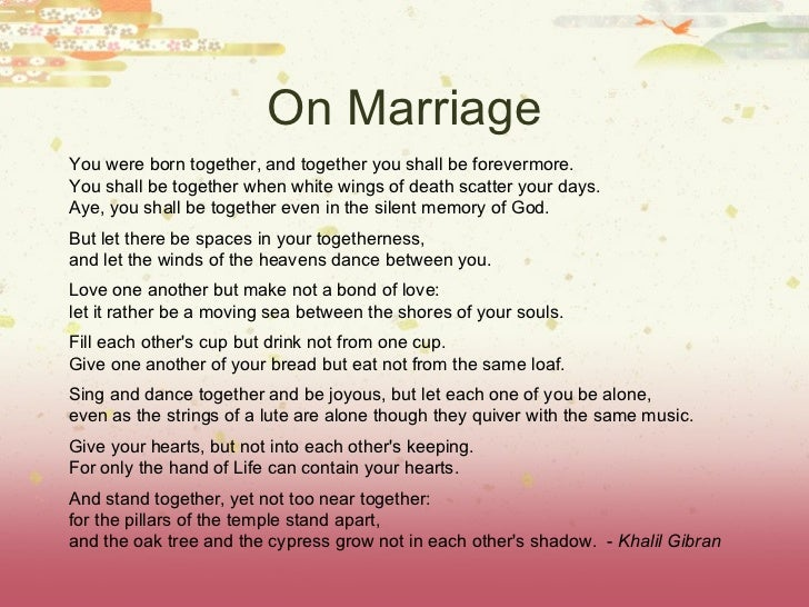 Marriage Wisdom And Blessing