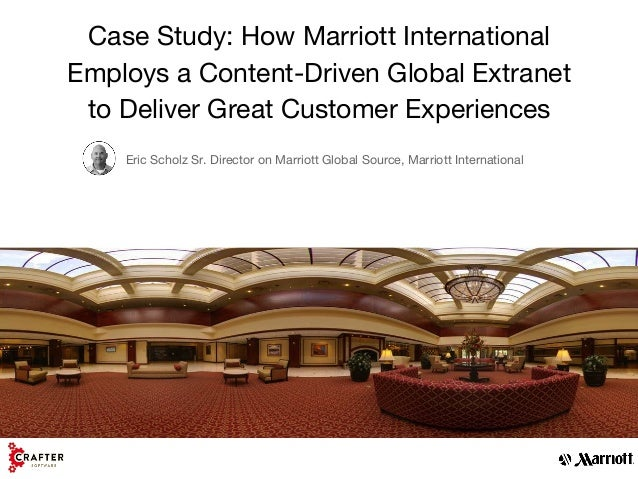 marriott case study Review case studies from hotel equities case study 1 residence inn by marriott fairfield inn & suites by marriott.