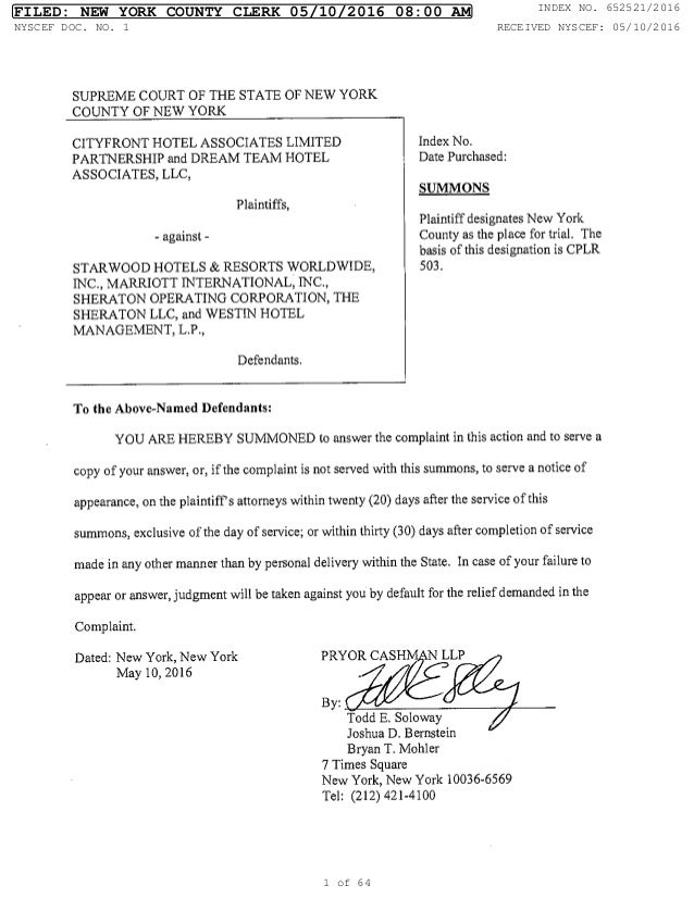 Dated: New York, New York PRYOR CASHM N LLP May 10, 2016 By: Todd E. Soloway Joshua D. Bernstein Bryan T. Mohler 7 Times S...