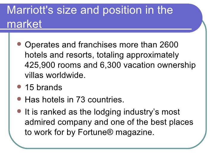Segmentation bases for marriotts hotels marketing essay
