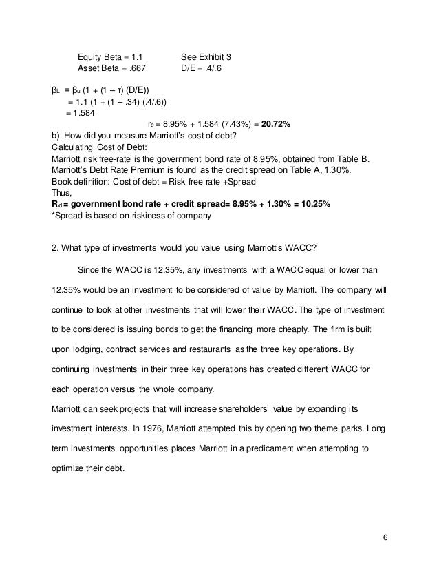 Marriot Case Essay Sample