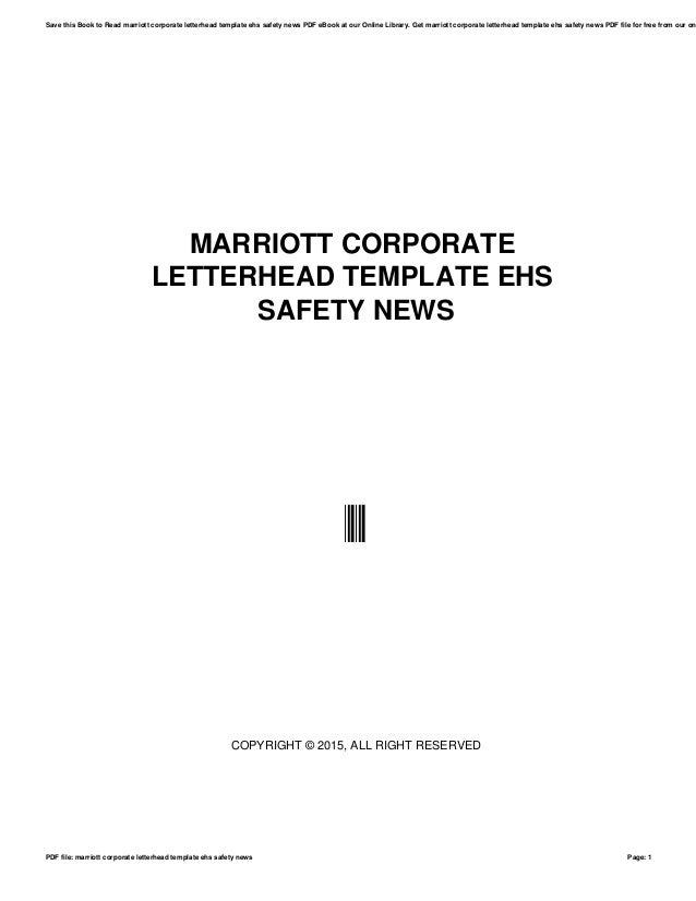 Marriott corporate letterhead template ehs safety news 1 638gcb1517299520 marriott corporate letterhead template ehs safety news copyright 2015 all right reserved spiritdancerdesigns Image collections