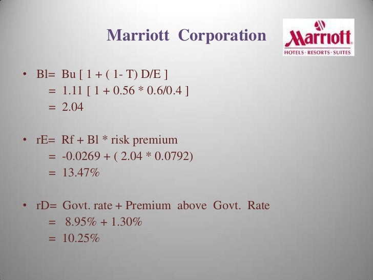 marriott corporation case study solution