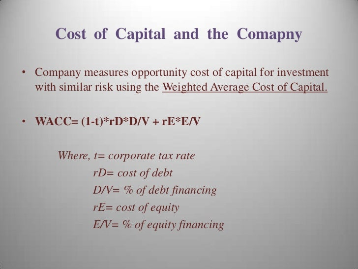 marriott wacc case study Marriott's cost of capital estimation process marriott uses the weighted average cost of capital (wacc) to determine its corporate hurdle rate three more legitimate reasons for marriott to buy back its stock would be mitigate the impact of stock dilution due to the exercise of stock options used as incentive compensation value-increasing.
