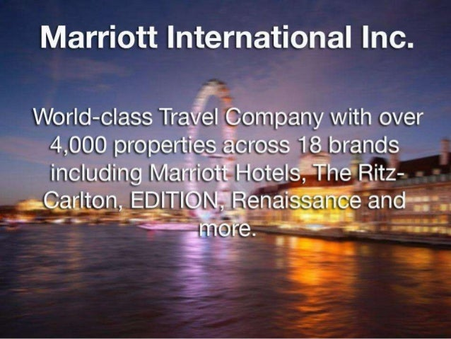 a case study of marriott international This case study deals with a company facing a strategic choice: the decision of  whether to split marriott corp into two companies -- marriott international and.