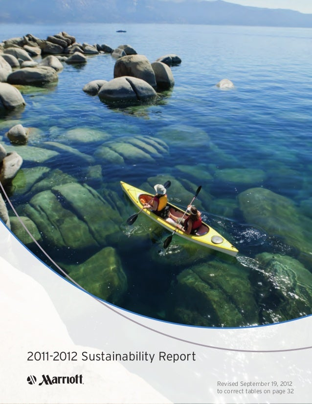 2011-2012 Sustainability Report Revised September 19, 2012 to correct tables on page 32