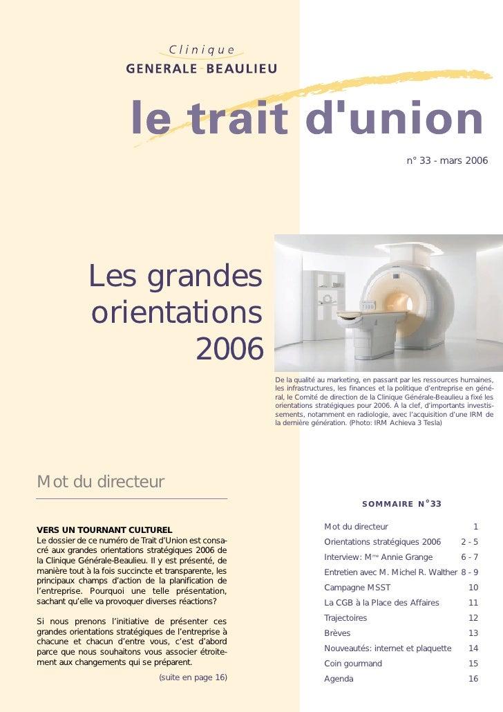 La Clinique Générale-Beaulieu en 2006