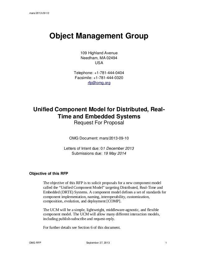 mars/2013-09-10 Object Management Group 109 Highland Avenue Needham, MA 02494 USA Telephone: +1-781-444-0404 Facsimile: +1...