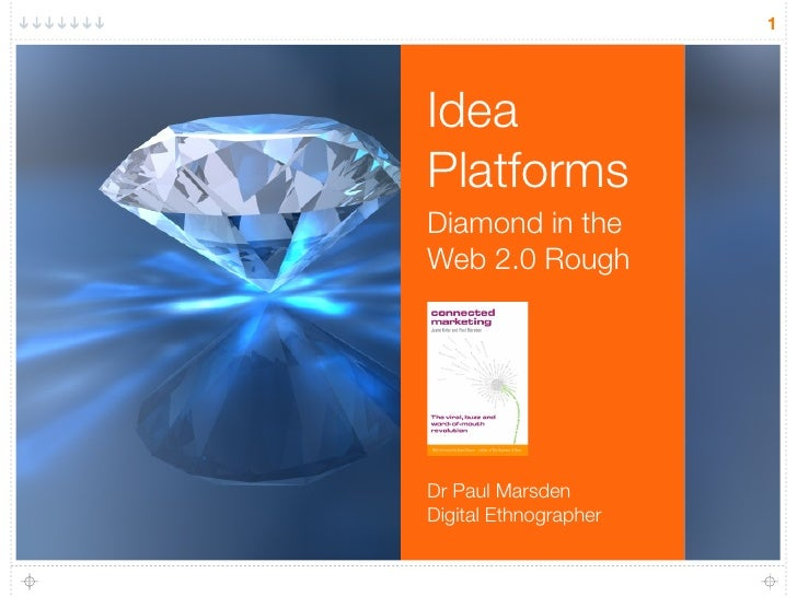 1     Idea Platforms Diamond in the Web 2.0 Rough     Dr Paul Marsden Digital Ethnographer