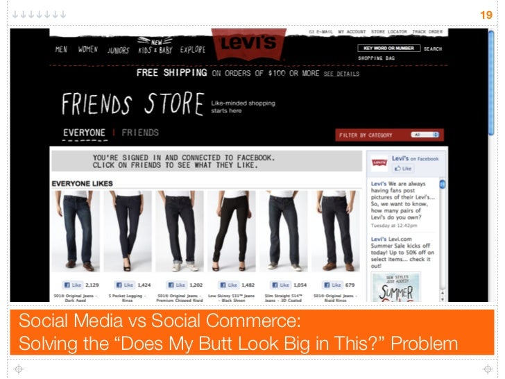 """19     Social Media vs Social Commerce: Solving the """"Does My Butt Look Big in This?"""" Problem"""