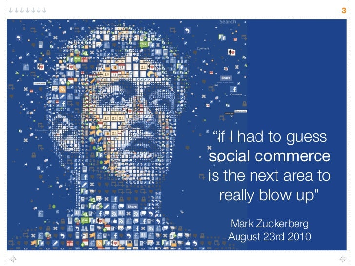 """3      """"if I had to guess social commerce is the next area to    really blow up""""    Mark Zuckerberg    August 23rd 2010"""