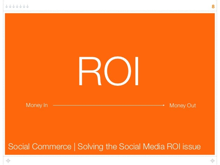 8                       ROI     Money In                               Money Out     Social Commerce | Solving the Social ...