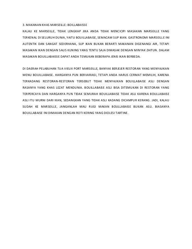 3. MAKANAN KHAS MARSEILLE: BOILLABAISSE KALAU KE MARSEILLE, TIDAK LENGKAP JIKA ANDA TIDAK MENCICIPI MASAKAN MARSEILLE YANG...