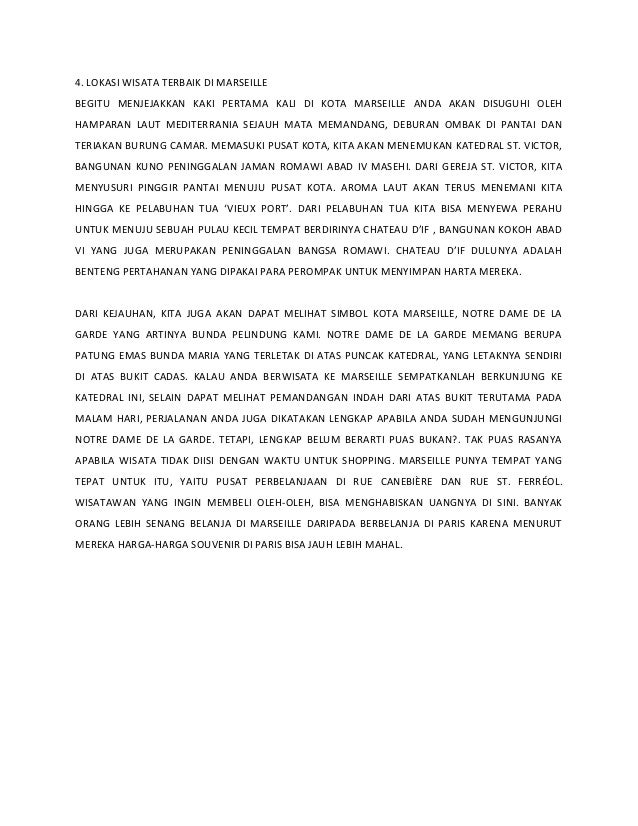 4. LOKASI WISATA TERBAIK DI MARSEILLE BEGITU MENJEJAKKAN KAKI PERTAMA KALI DI KOTA MARSEILLE ANDA AKAN DISUGUHI OLEH HAMPA...