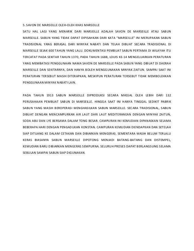 5. SAVON DE MARSEILLE OLEH-OLEH KHAS MARSEILLE SATU HAL LAGI YANG MENARIK DARI MARSEILLE ADALAH SAVON DE MARSEILLE ATAU SA...