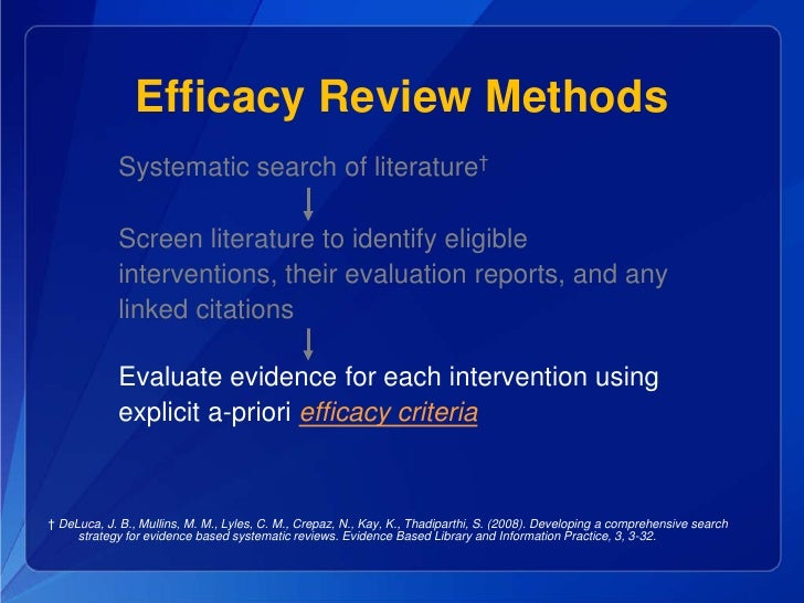 systematic literature review methods Systematic reviews: types of literature review & methods  the prisma  statement for reporting systematic reviews and meta-analyses of.