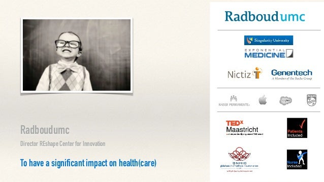 Radboudumc Director REshape Center for Innovation To have a significant impact on health(care)