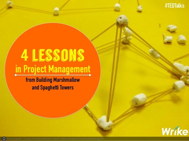 4 project management lessons from building marshmallow and spaghetti. Black Bedroom Furniture Sets. Home Design Ideas