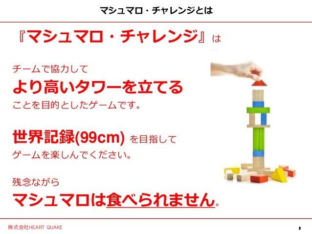 研修で使えるマシュマロチャレンジの運営スライド Slide 2