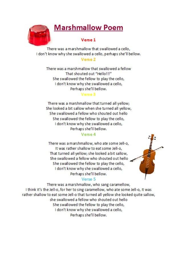 Marshmallow Poem