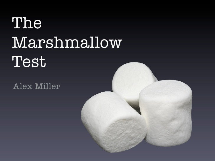 The Marshmallow Test Alex Miller
