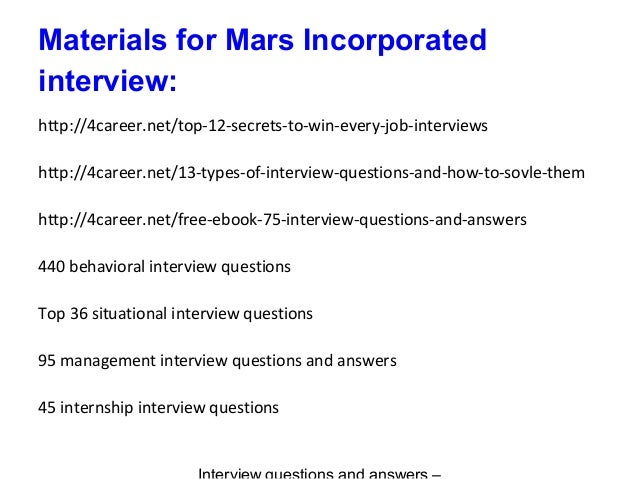 Scoring key for interview questions