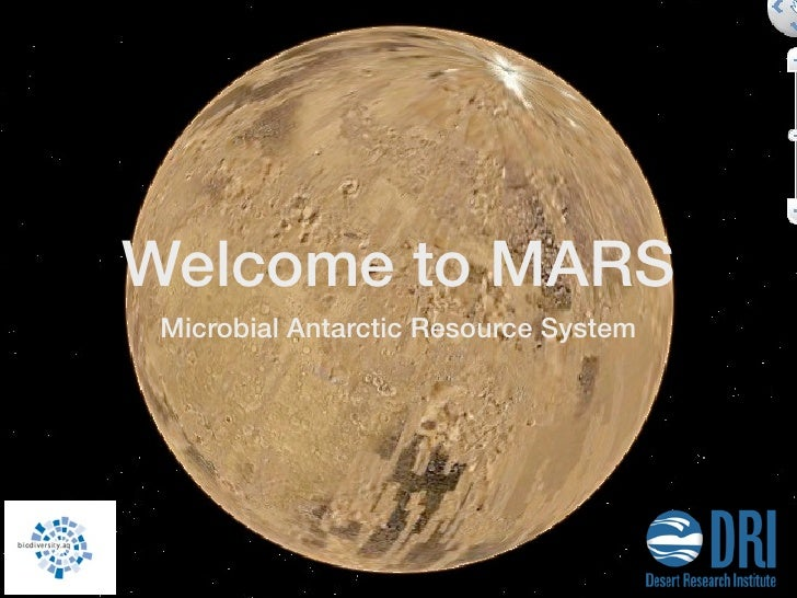 Welcome to MARS Microbial Antarctic Resource System