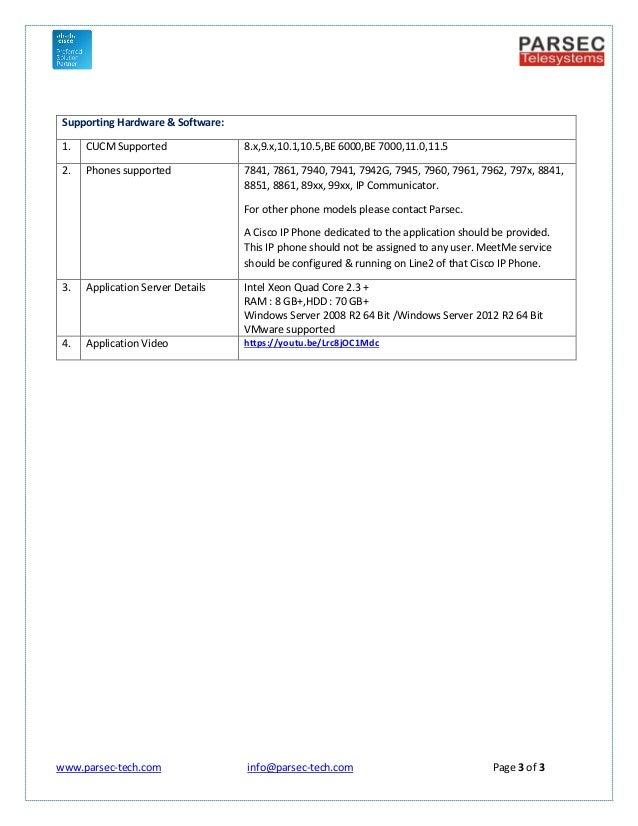 MARS MeetMe Password for Cisco CUCM
