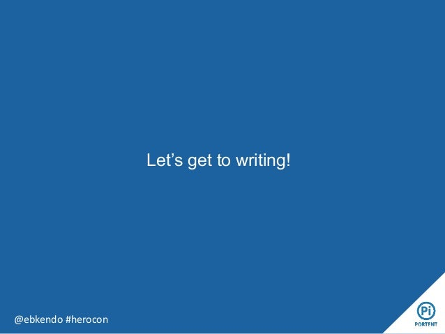 Let's get to writing! @ebkendo #herocon
