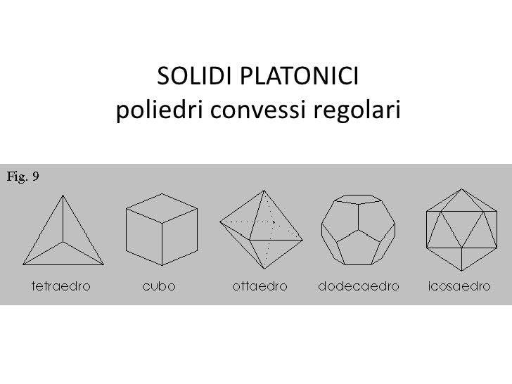 SOLIDI PLATONICIpoliedri convessi regolari<br />