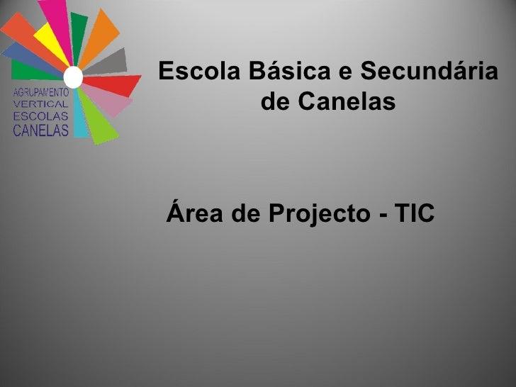 Escola Básica e Secundária de Canelas Área de Projecto - TIC