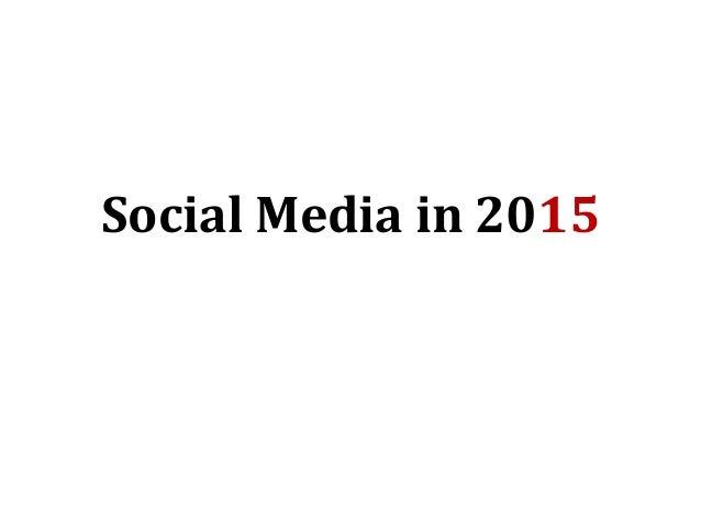 Social Media in 2015