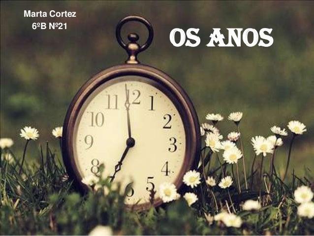 Marta Cortez 6ºB Nº21  Os Anos