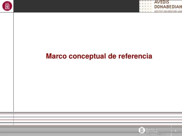 2 Àrea de Benestar Social Marco conceptual de referencia