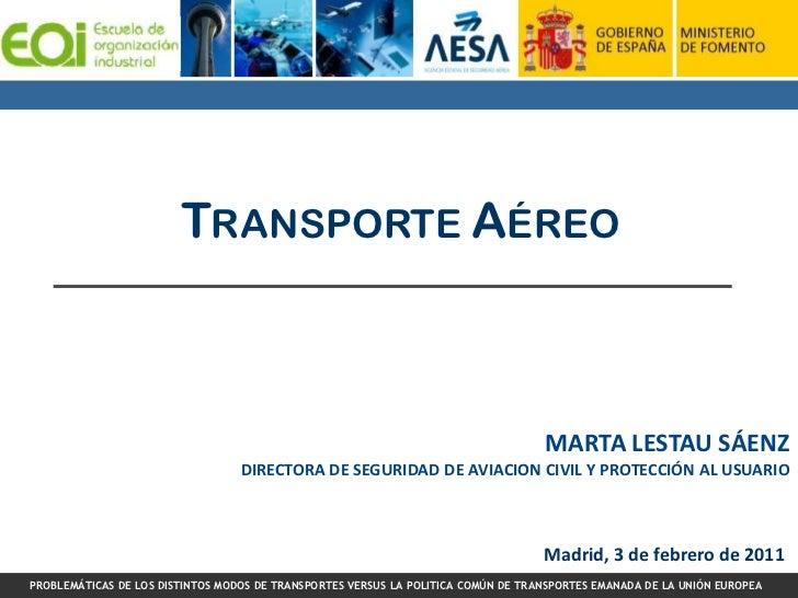 TRANSPORTE AÉREO                                                                                   MARTA LESTAU SÁENZ     ...