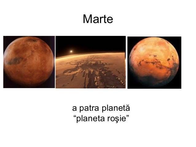 """Marte a patra planetă """"planeta roşie"""""""