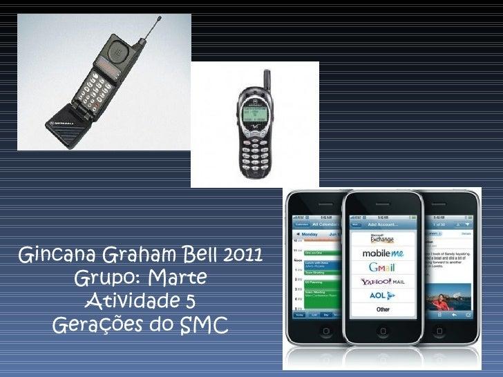 Gincana Graham Bell 2011 Grupo: Marte Atividade 5 Gerações do SMC